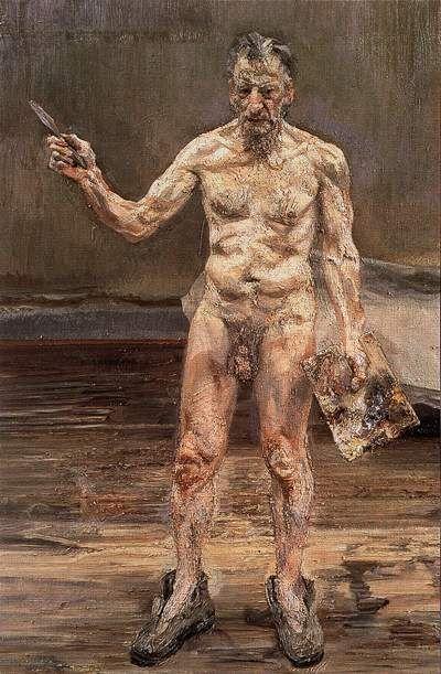 portraits d'artistes: Lucian Freud, autoportrait nu