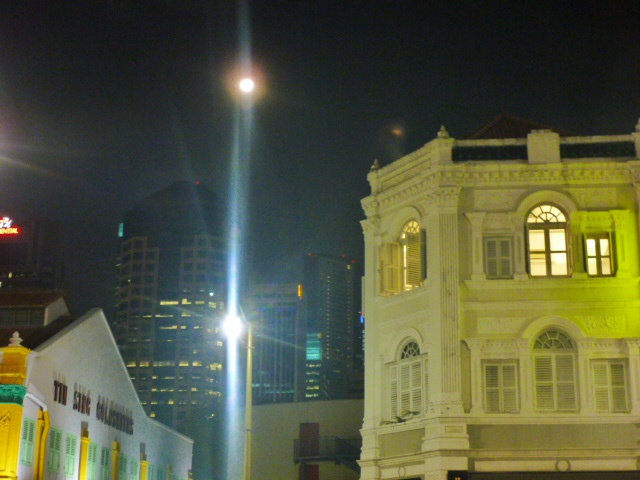 Full moon from Mosque Street, Chinatown