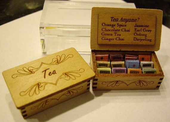 Tea Display Chest  - Kit - one inch scale Cherry Wood