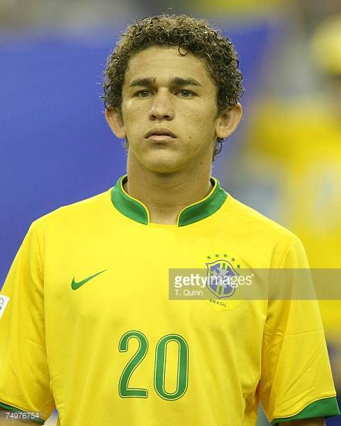 Leandro Lima of Brazil at the start of the FIFA U20 match against Poland June 30 2007 in Montreal Quebec Canada Poland won 10
