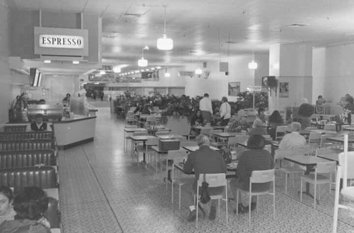 Coles cafeteria Melbourne 1970's