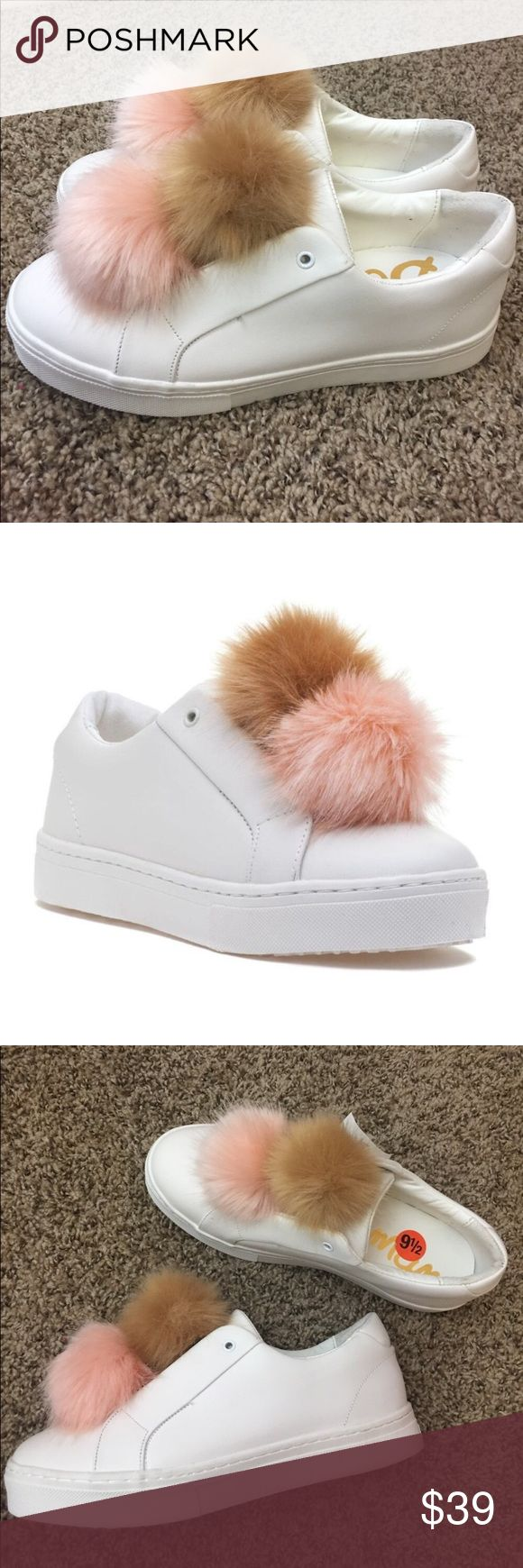 NEW Sam Edelman Leya Fur Pom Pom Sneaker Brand new!! Super cute and comfy!! Size… – Natalie Robino