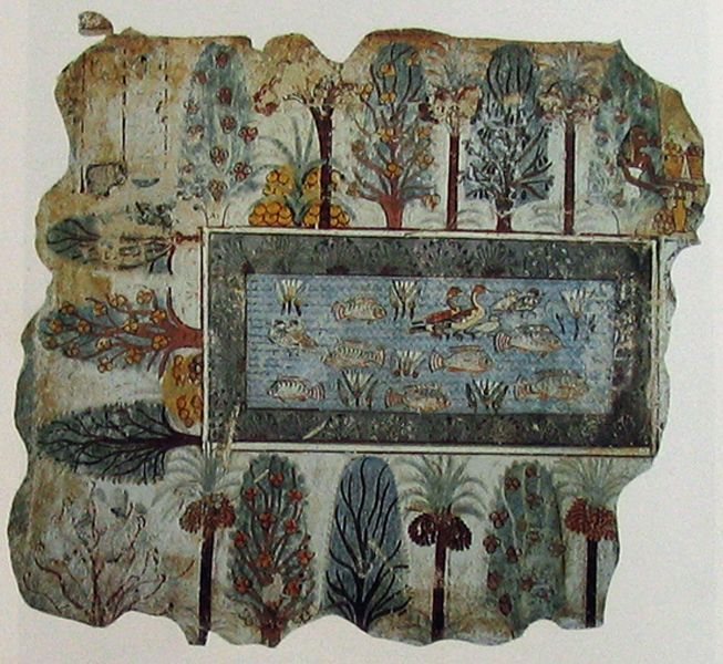 Ancient depiction of a garden (Egyptian, Roman?)   http://paintingclass.net/blog/when-paradigms-collapse/