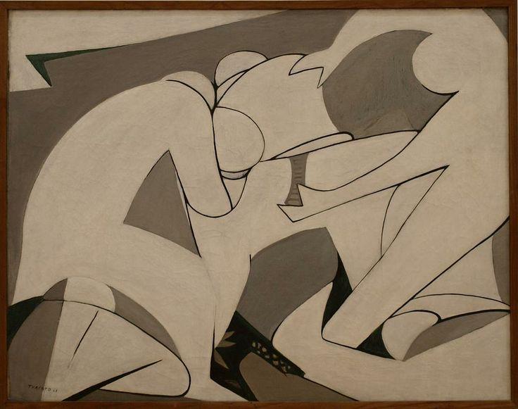 Giulio Turcato - Rivolta - 1948 - olio su tela - cm 91x115.5 - Roma GNAM