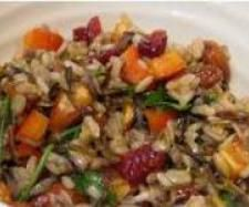 Wild Rice Salad with Pumpkin and Cranberries