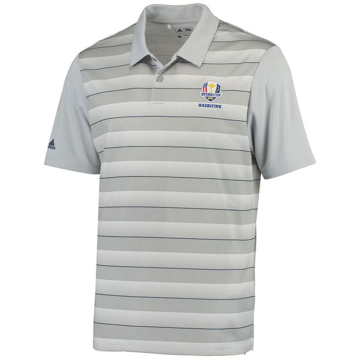adidas 2016 Ryder Cup Block-Striped Polo - Gray/Blue