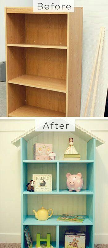 Kids shelving makeover | kids room design | kids furniture | Ikea Billy Hack | Billy Shelf Hack