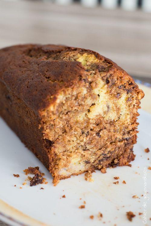 Cake Banane Chocolat   Cahier de gourmandises