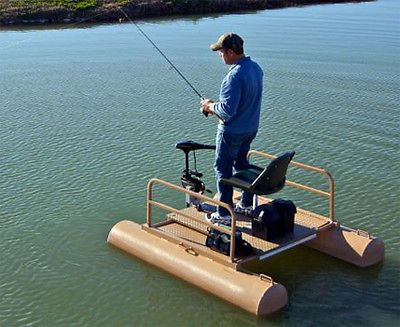 6 ft One Person Mini Pontoon Fishing Boat