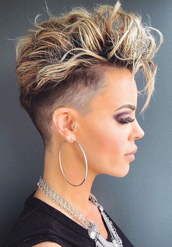 blonde Short pixie haircut, undercut pixie haircut, short haircut for woman, pix…