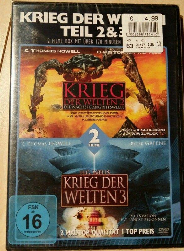 Krieg der Welten 2 & 3 DVD, NEU und OVP  ✔ Filme Thriller  ✔ DVD-RC-2  ✔ Günstige Preise ✔ Jetzt online kaufen bei Filmundo!