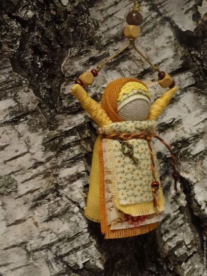Купить или заказать Куколка народная 'Благость' (для сумки) в интернет-магазине…
