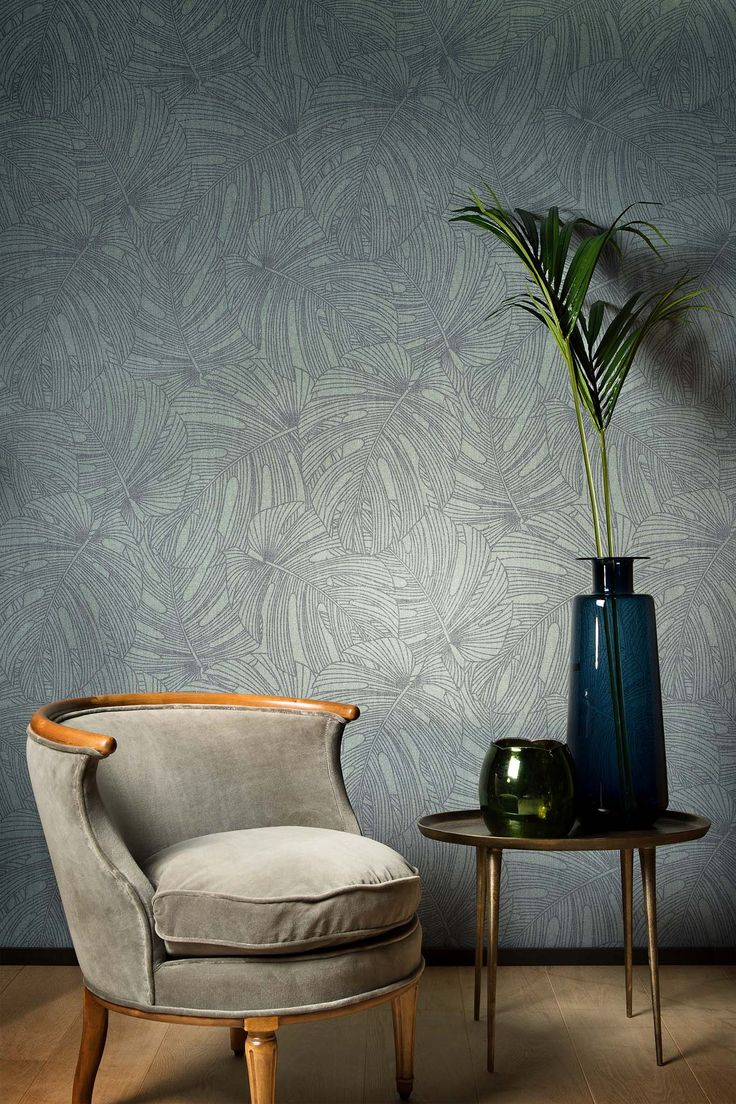 Palm Print Wallpaper. Flamant Les Memoires. Arte. Wirz Tapeten AG
