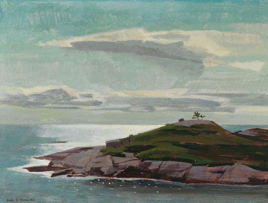 Alan Collier - Between Peggy's Cove and Indian Harbour Nova Scotia 12 x 16 Oil on board