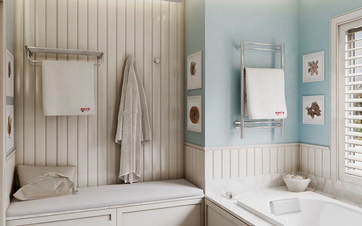 An alternative idea in the family bathroom is to include a Bathroom Butler heated towel rail for drying towels. Also, if you have the space consider adding a sitting area, for you to sit and share some quality time with your little one while he plays in the bath.