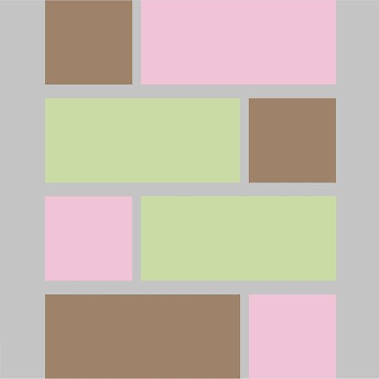 Joss Caito - Mid Century Modern Colour Pallet 1: Rectangles