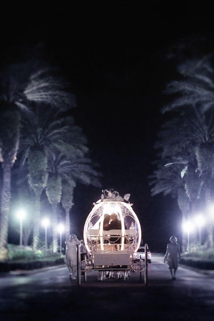 Cinderella horse drawn wedding carriage