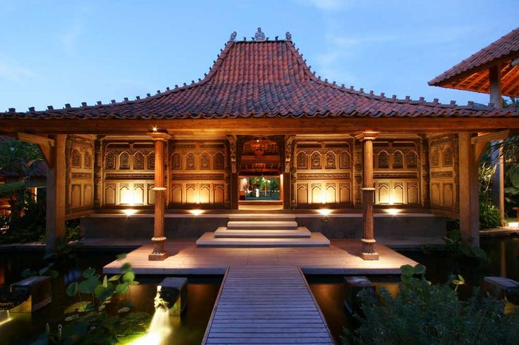 Outdoor Wall Lighting with mini pool and traditional house design