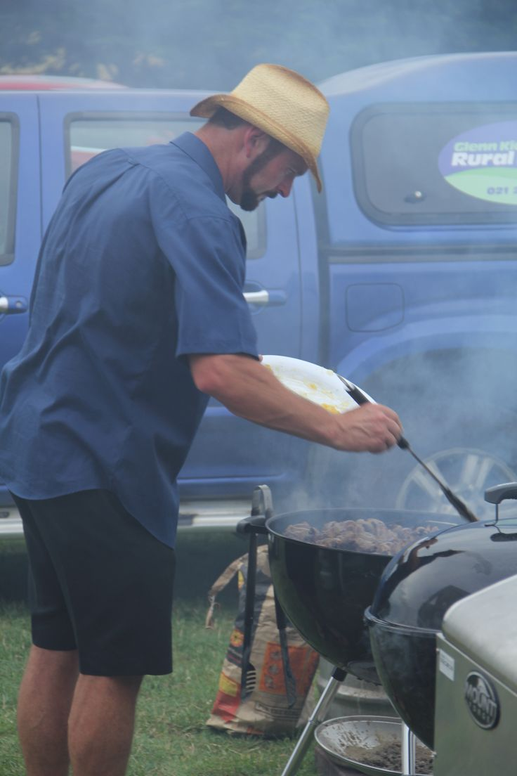Wayne cooking the Maple duck