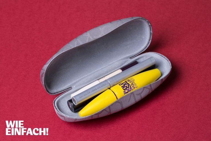 Ein altes Brillenetui hat so gut wie jeder. Was die wenigsten wussten: Man kann es auch prima für die wichtigsten MakeUp-Utensilien verwenden. Perfekt für die Handtasche. Foto: Torsten Kollmer