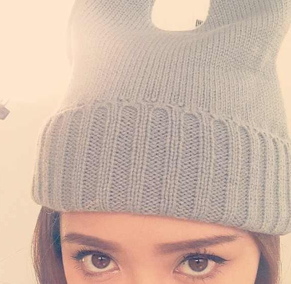 Bunny beanie hat! @Michelle Phan  I want this hat!!! Where did she get it??