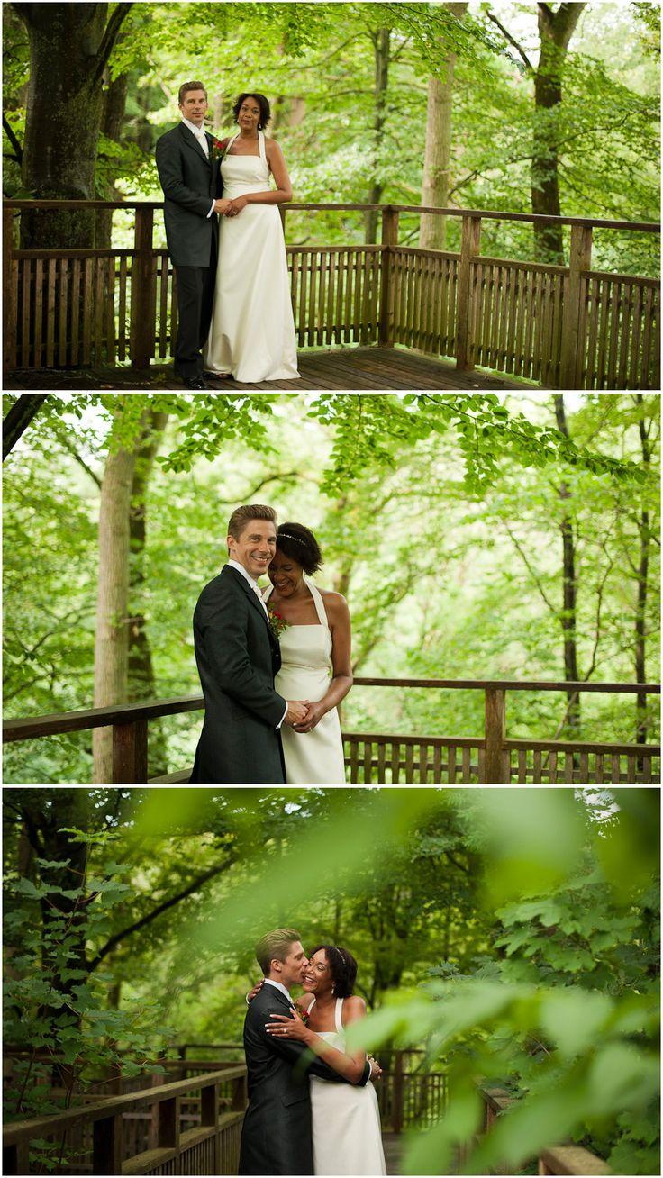 Bröllop, fotografering bakom Röstånga Turistbyrå, Söderåsens Nationalpark