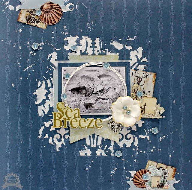 Artdeco Creations Brands: Sea Breeze Layout Video Tutorial by Anita Bownds #seabreeze #couturecreationsaus