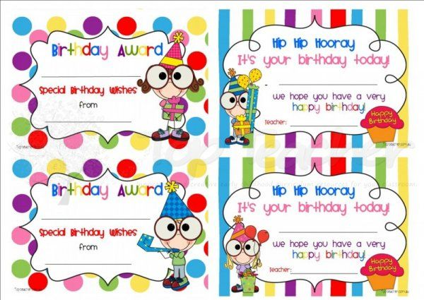 Innovative Birthday Charts For Classroom ~ Best birthday certificate ideas on pinterest student
