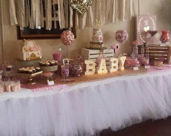 Tutu Falda de la tabla por encargo boda por BaileyHadaParty en Etsy