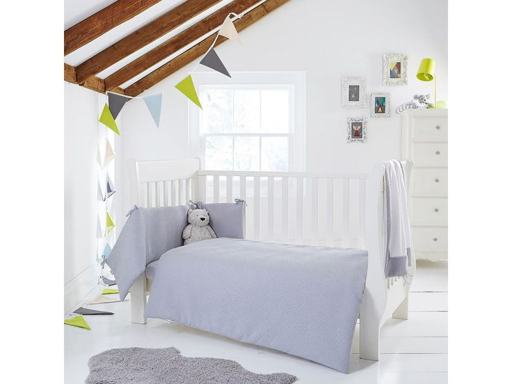 Clair de Lune Waffle Cot Bed Set in Grey