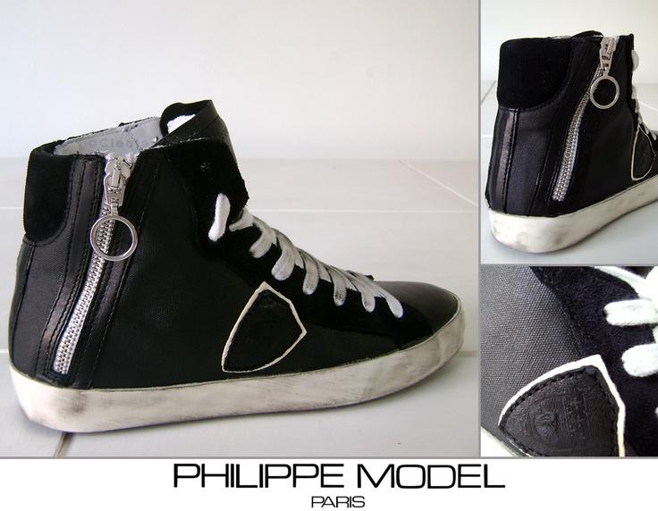 Scarpe Sneakers PHILIPPE MODEL - Modello BIKE Donna - Black Nere Zip
