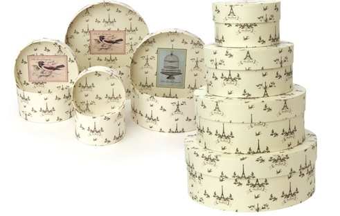 Miss Etoile hat boxes, ideal for storage , spring cleaning has started