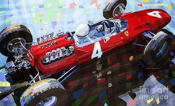 1965 British Grand Prix Silverstone Lorenzo Bandini Ferrari 158 by Yuriy Shevchuk