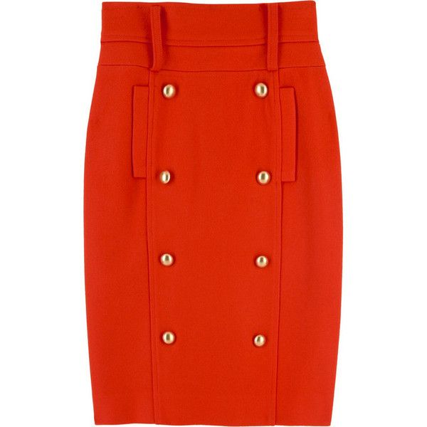 Camilla and Marc Miranda pencil skirt (5 795 UAH) ❤ liked on Polyvore featuring skirts, red, bottoms, faldas, orange, women, red knee length skirt, orange pencil skirt, camilla and marc and knee length pencil skirt