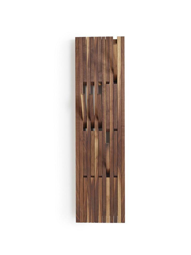 Cabide de nogueira de parede PIANO WALNUT by PER/USE design Patrick Seha