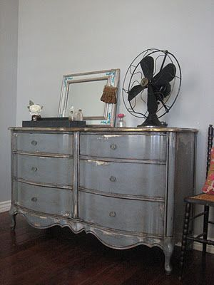 Great refinished rustic looking dresser!