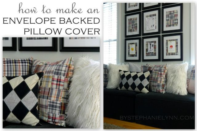 How to Make an Envelope Backed Pillow Cover {an easy novice sewing tutorial}
