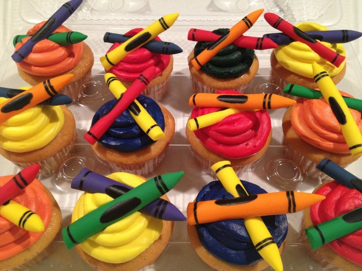 Crayon Cupcakes Cupcake IdeasArt Party3rd BirthdayBirthday