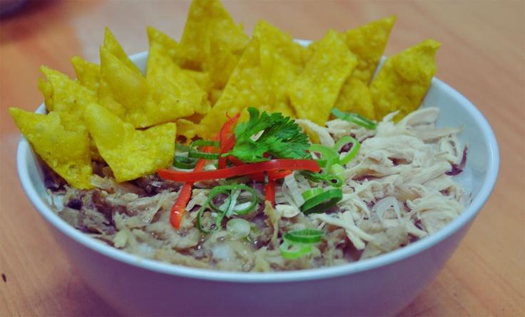 Bubur Ayam at Hainan Chicken Rice