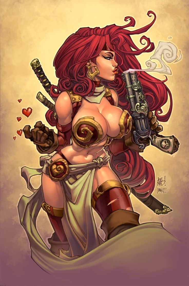 "comicsodissey: "" Red Monika x Joe Madureira """