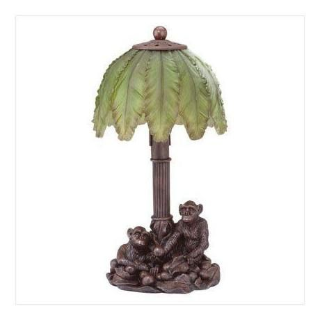 Monkey Table Lamps: Palm Tree Table | Palm Tree Lazy Monkey Electric Desk Table Lamp, Lamps,Lighting