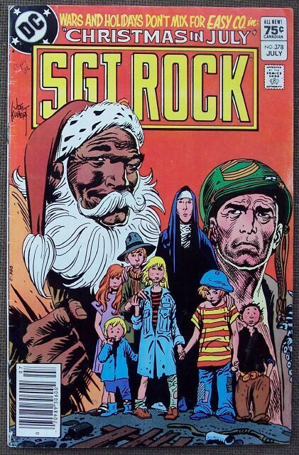 Comic DC Sgt Rock  No 378 July 1983 featuring Easy Co. in Christmas in July, comic book reading copy.