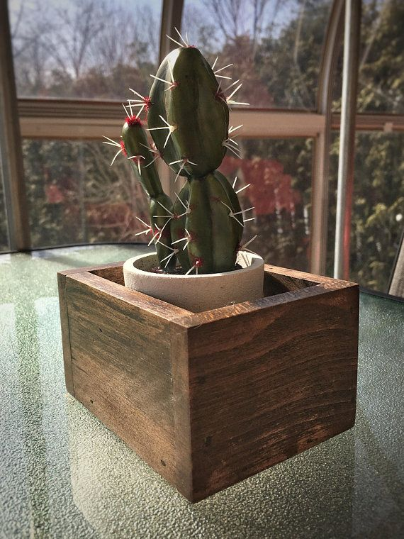 Solid wood box / planter *** different sizes and colors available**