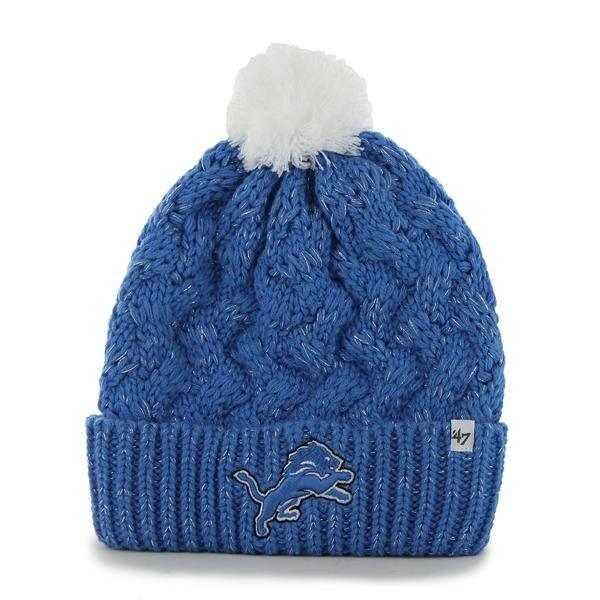 b8bc9f3ced8 cheap detroit lions fiona cuff knit blue raz 47 brand womens hat b68e3 097b3