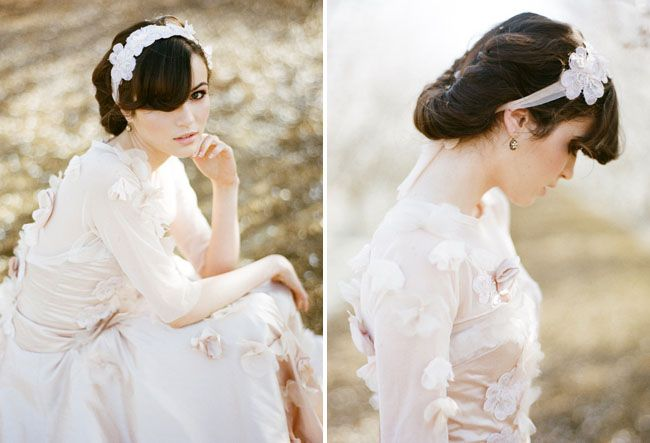 Almond Orchard Wedding Inspiration: Bride Bridesmaid, Wedding Dressses, Rose Flower, Wedding Dresses, Wedding Prom Hairstyles, Almonds Orchards, Wedding Blog, Photo Duet, Glamorous Almonds