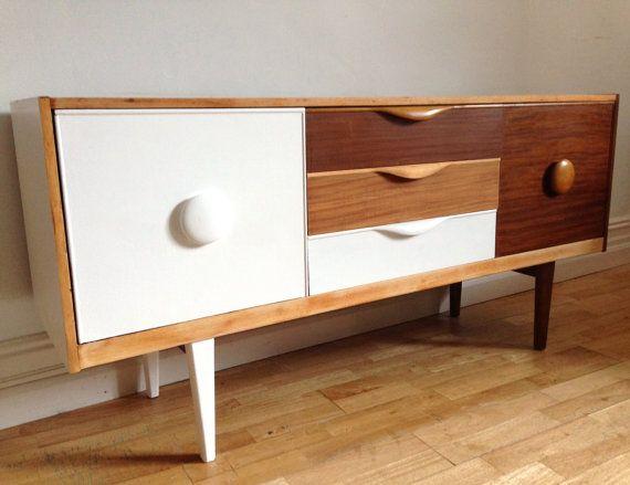 Upcycled Retro Teak Sideboard 60s/70s Mid century by baddogstudio, £300.00