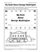 #2  My Book About George Washington Free printable girls can make into a booklet