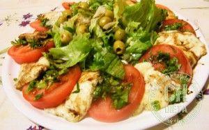 Sült mozzarella salátával szénhidrát számolással