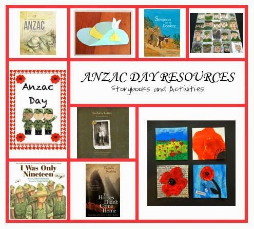 My Mum the Teacher - ANZAC Day storybooks and activities, broken day into age groups (from preschool to Stage 3).