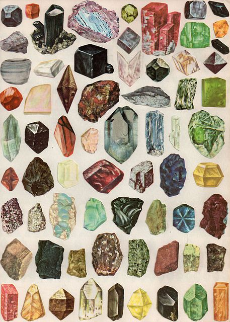 Mineral poster: Crystals, Gemstone, Color, Love Rocks, Gems Stones, Illustration, Poster, Rocks Collection, Minerals